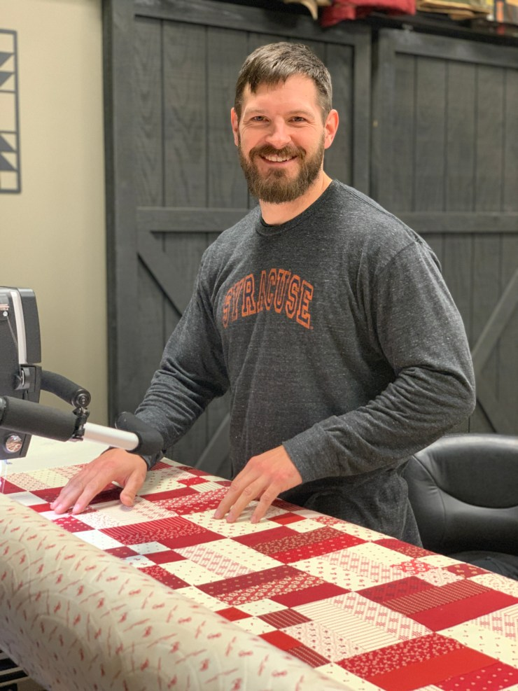 Quilting the Quilts - Redwork Gatherings Quilting Giveaway by top US quilting blogger, Lisa Bongean
