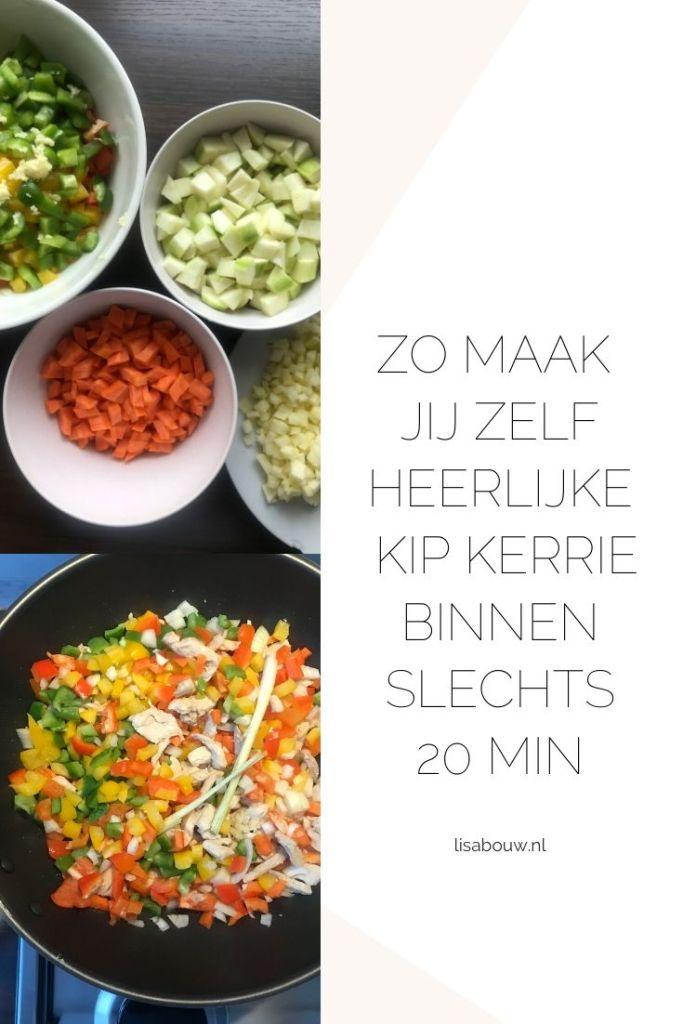 Heerlijke kip kerrie wok