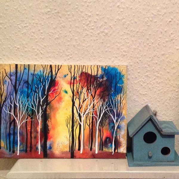 Little house and the woods.