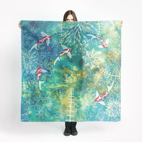 Wall hangings and cushions. Fantastic fishes, full of fun.