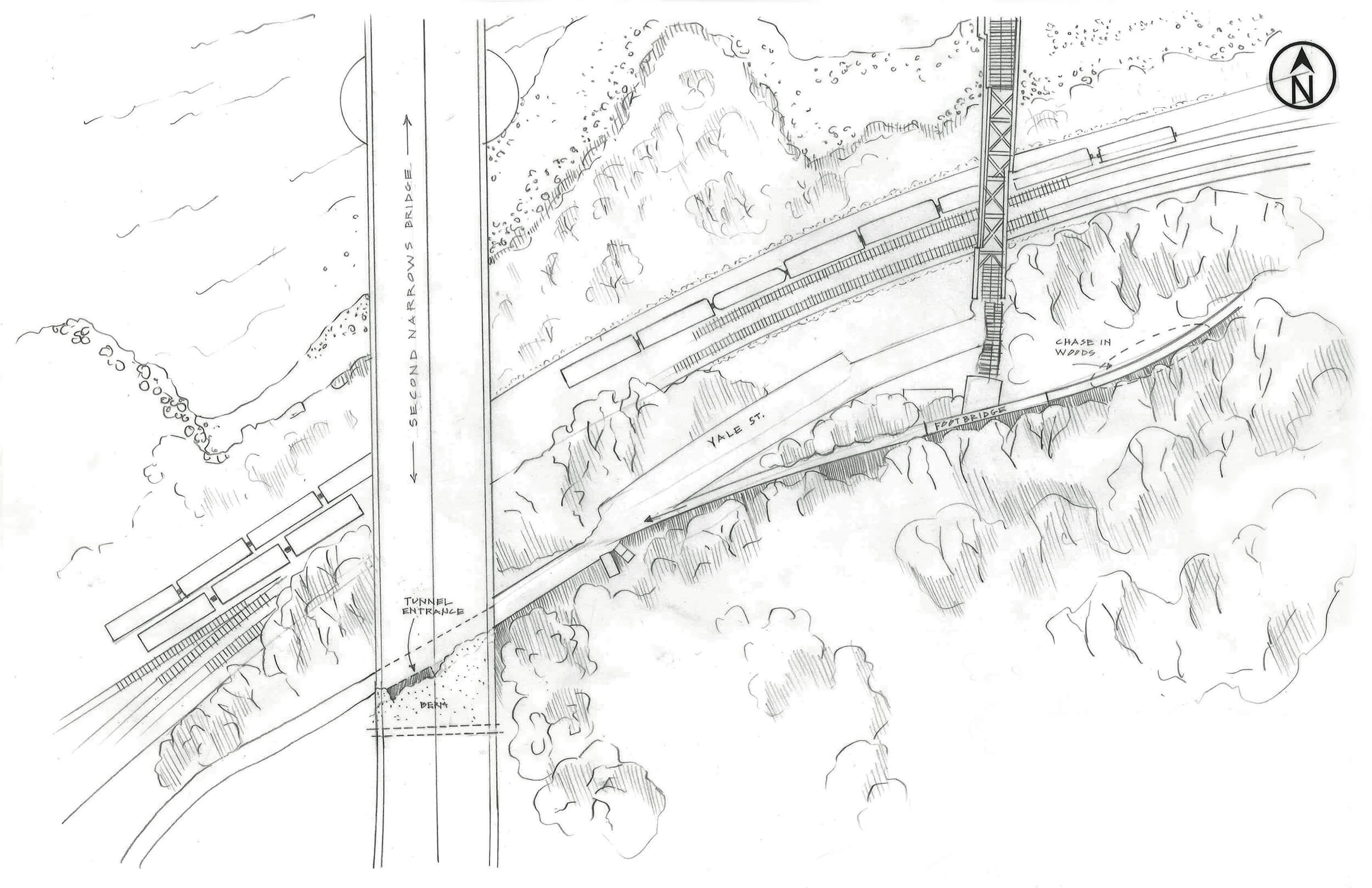 EXT TUNNEL AND CHASE IN WOODS PLAN