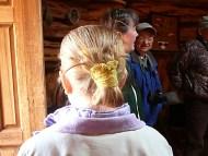 Navajo Woman Traditional Hair Bun