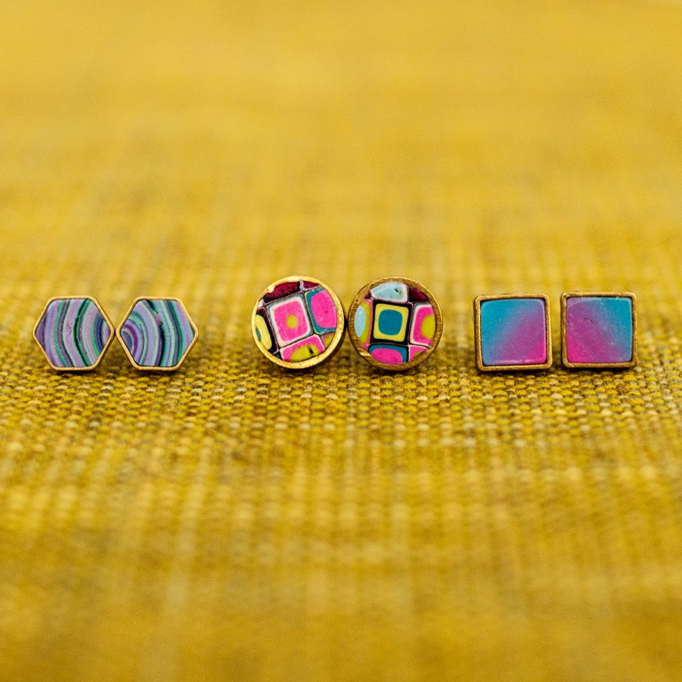 Stud Earrings at Polka Dot Cottage