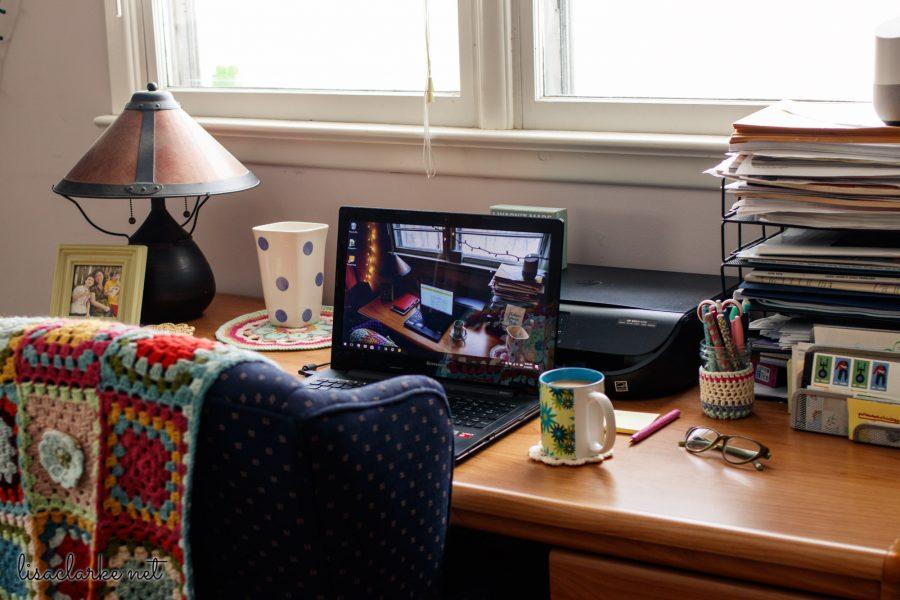 Desk Decluttering: After