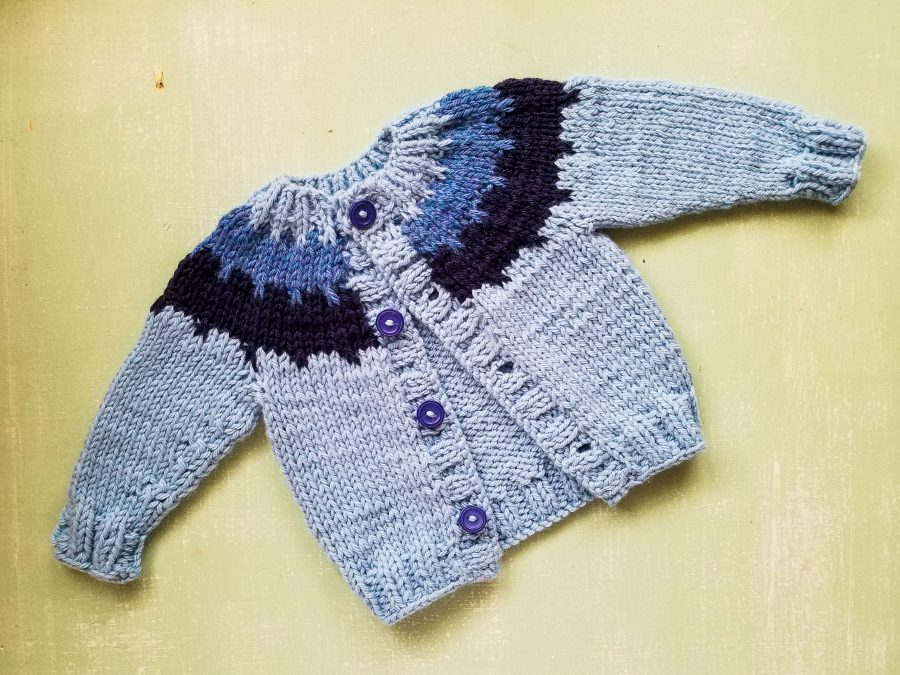 Cogwheel Cardigan Pattern by Lisa Clarke