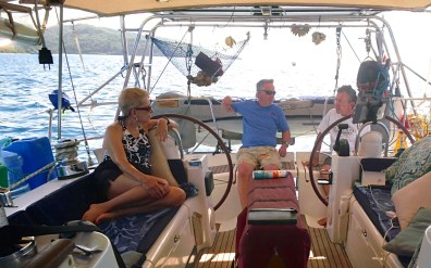 Sailing Taha'a with Steve and Margo