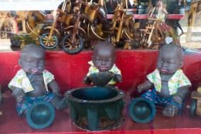 Dolls Enjoying Kava Bowl