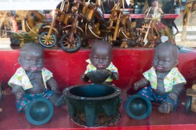 Dolls Enjoying Kava Bowl