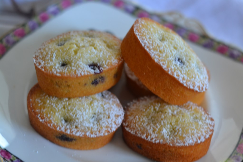 Lisa Bakes: Blueberry and Coconut Friands