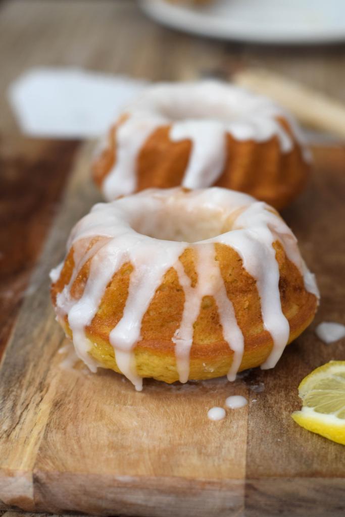 Lemon drizzle mini bundt cakes