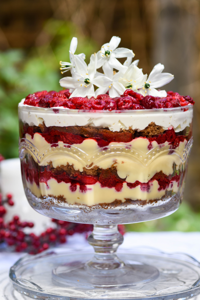 Gingerbread and Raspberry Christmas Trifle