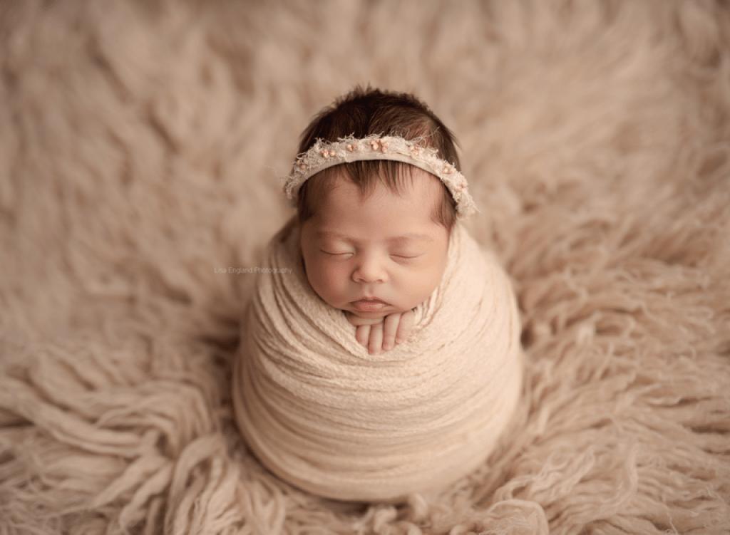 newborn potato sack wrapped