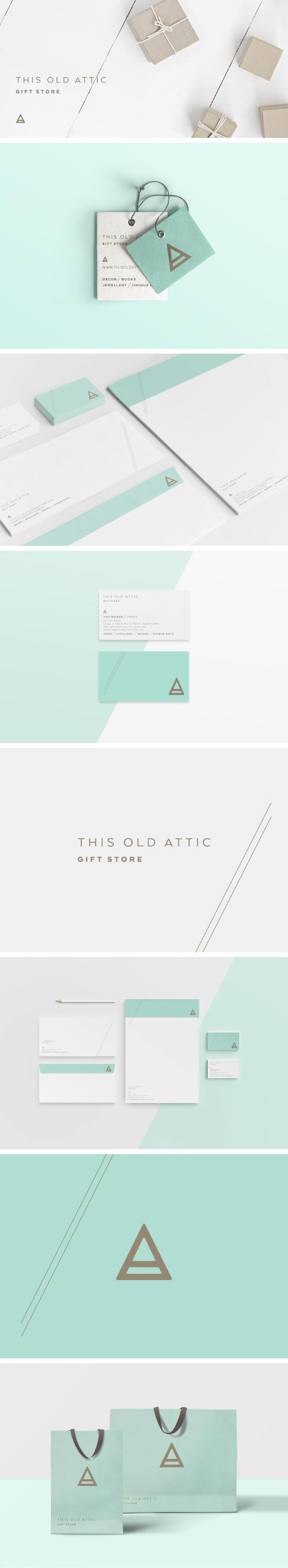 This Old Attic branding and design project created by Sydney designer, Lisa Furze