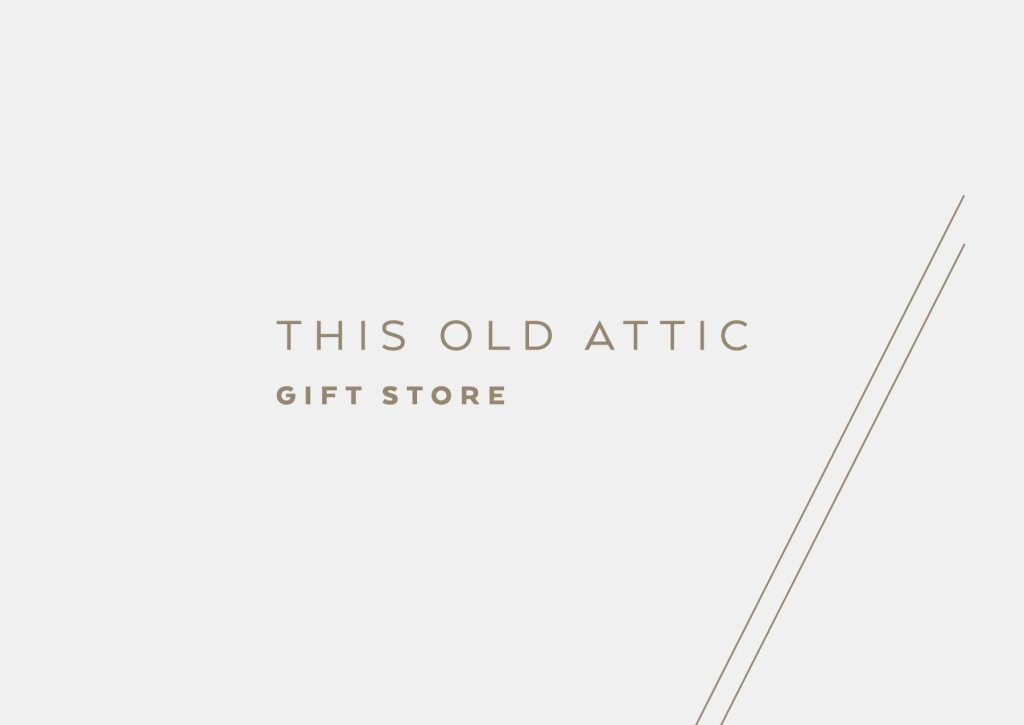 This Old Attic primary logo design by Lisa Furze