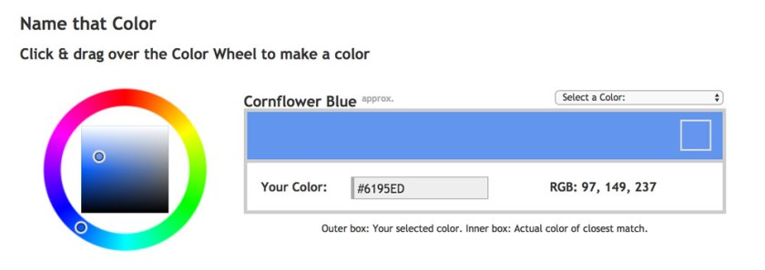 Name that Color — 6 free tools to help you pick iconic brand colours