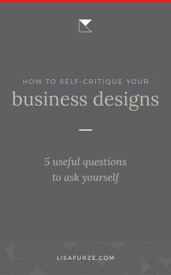 Designing for yourself is notoriously difficult. Use these quick questions for self-critiquing to help you keep some perspective when you need to think critically.