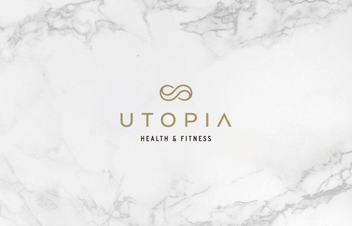 Utopia primary logo design and branding by Lisa Furze