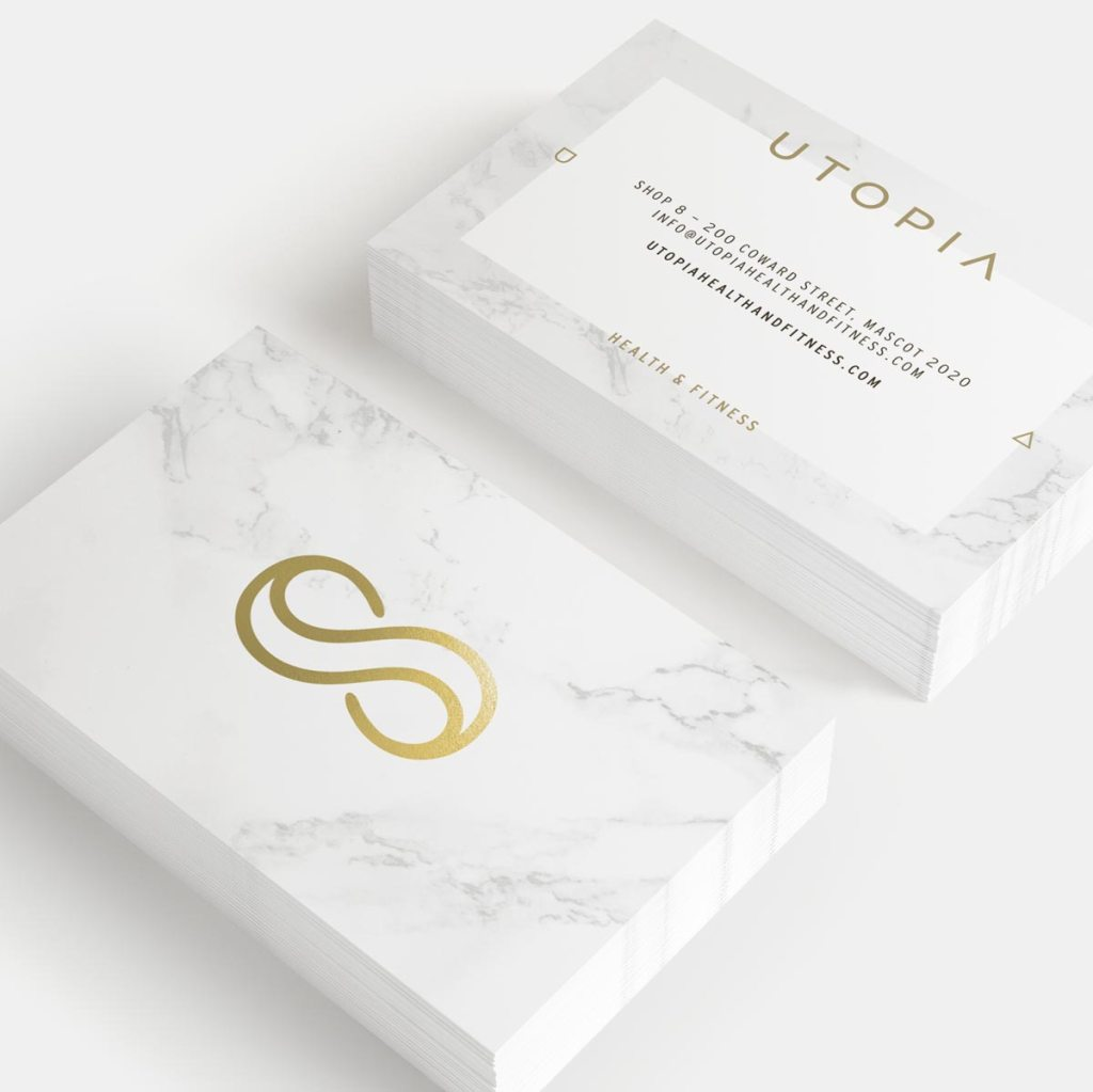 Sydney gym, Utopia Health & Fitness, branding and design by Lisa Furze