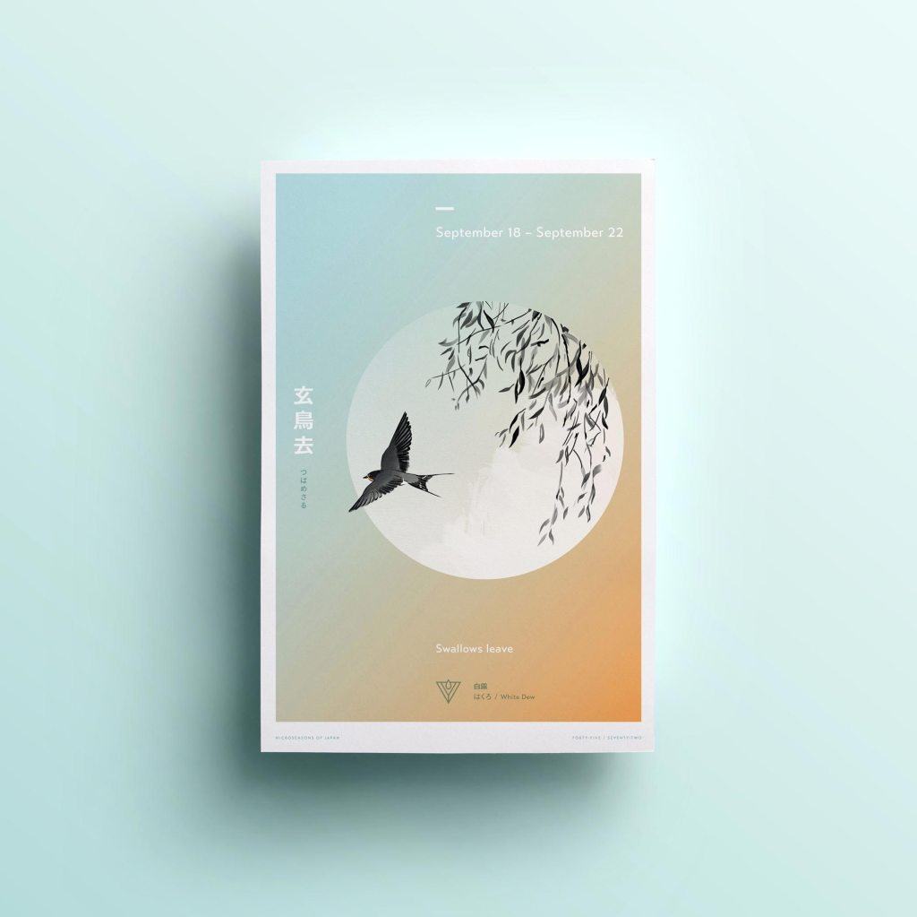 Swallows Leave, poster design by Lisa Furze