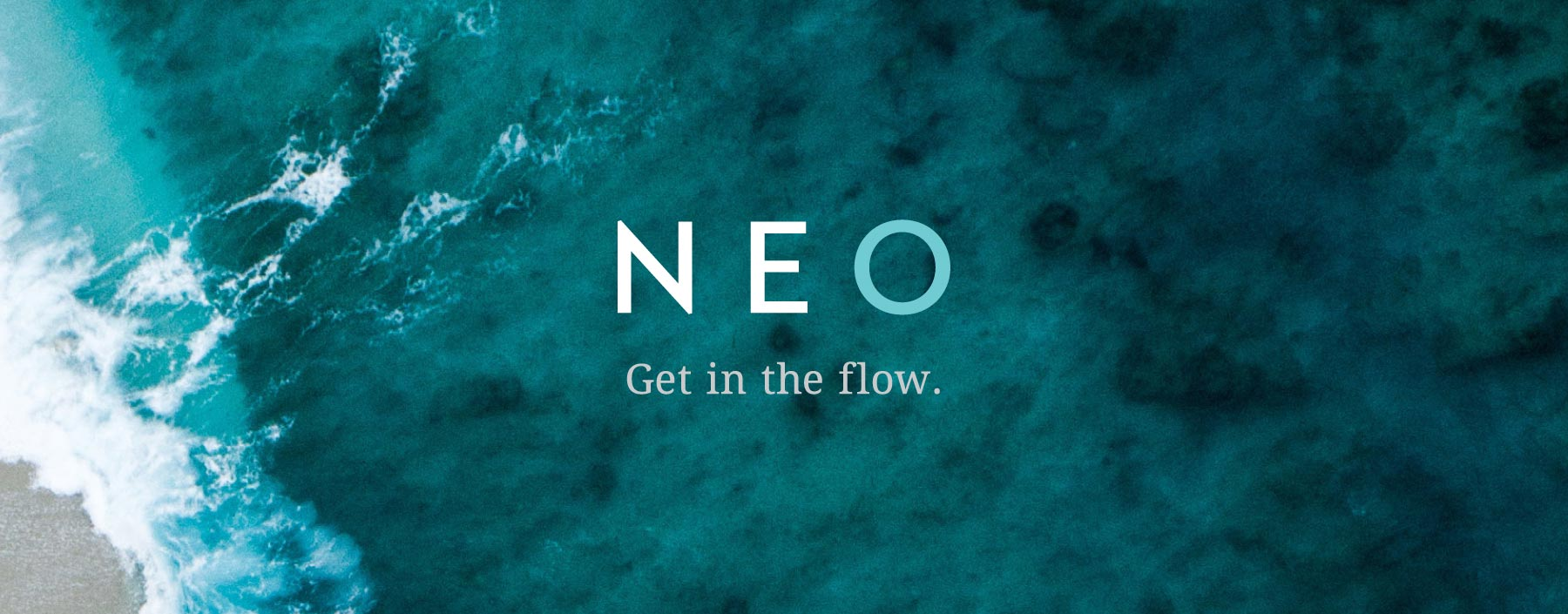 NEO logo and tagline, designed by Lisa Furze