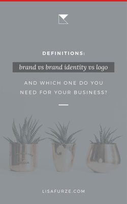 Easy-to-understand definitions to explain the difference between common branding terms. Learn the difference between a brand and a brand identity and how each of those are more than simply a logo!