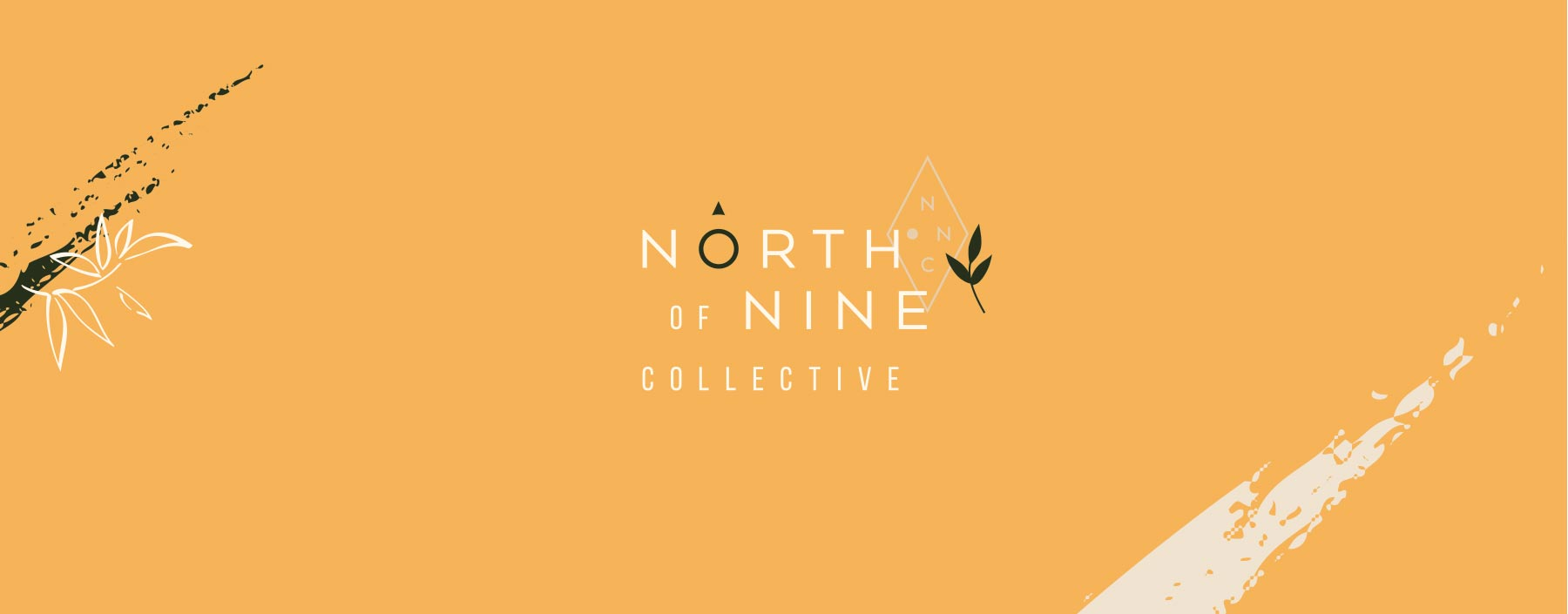 North of Nine Collective primary logo design, created by Lisa Furze