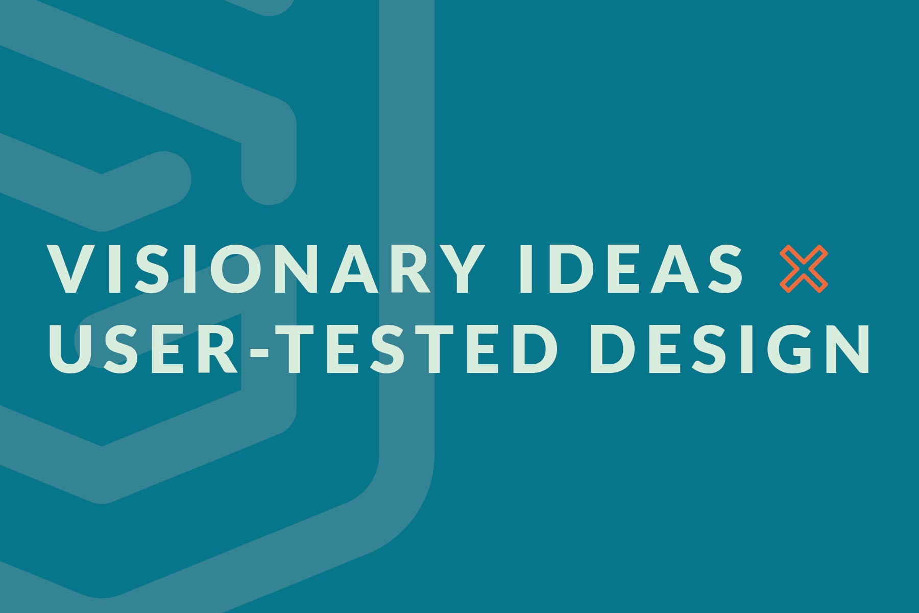 Visionary ideas x user-tested design