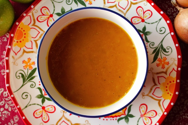 Roasted Squash and Onion Soup (with Curry)