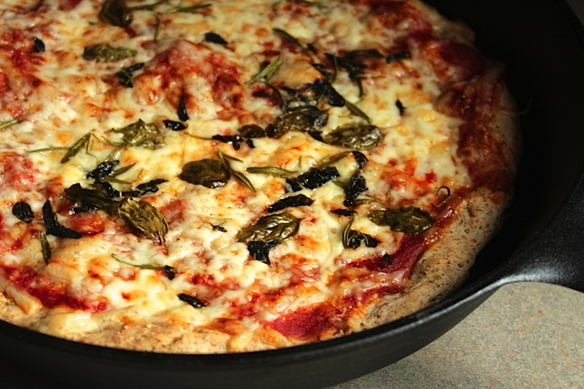Pan Pizza with Fresh Herbs
