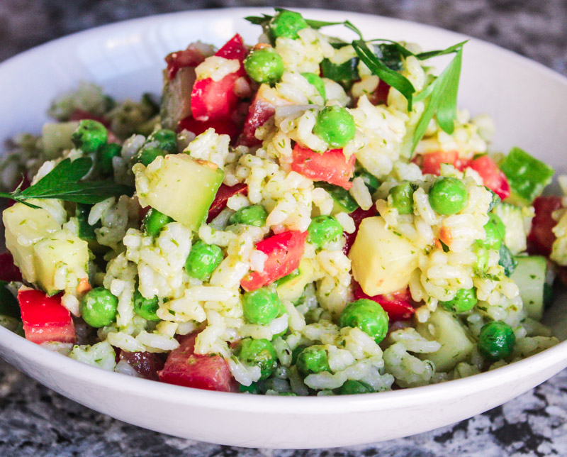 Chimichurri Rice Salad