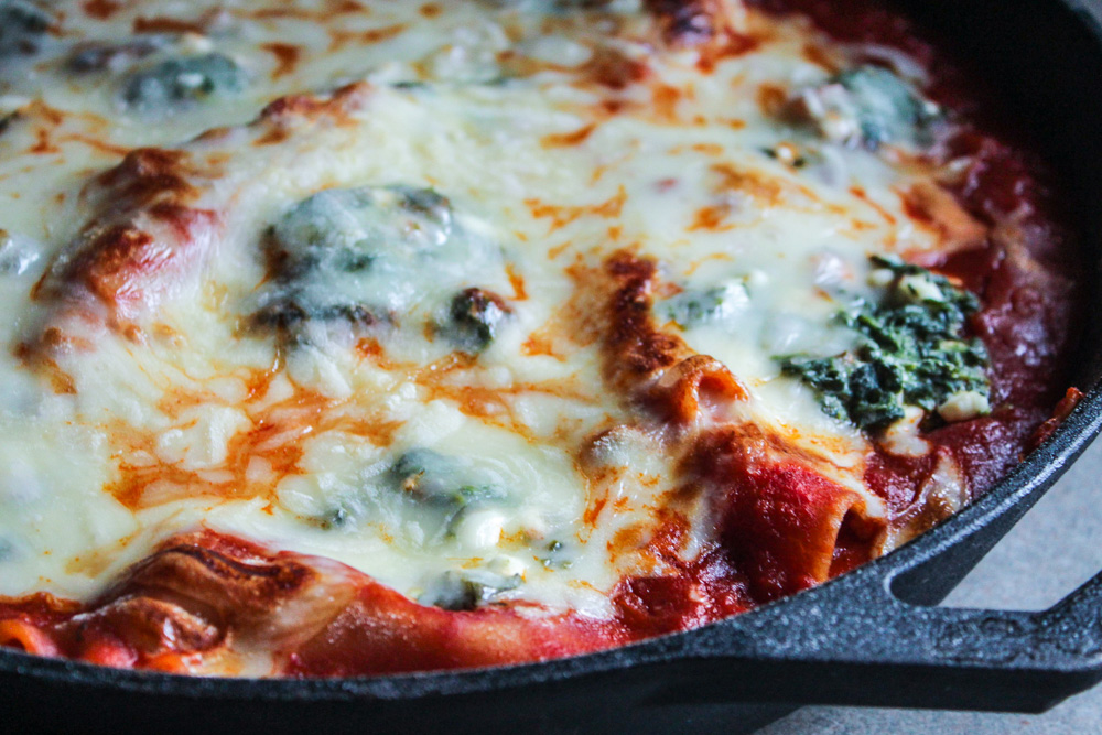 skillet lasagna with spinach
