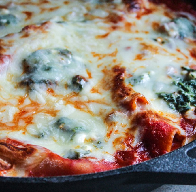 Spinach and Cheese Skillet Lasagna