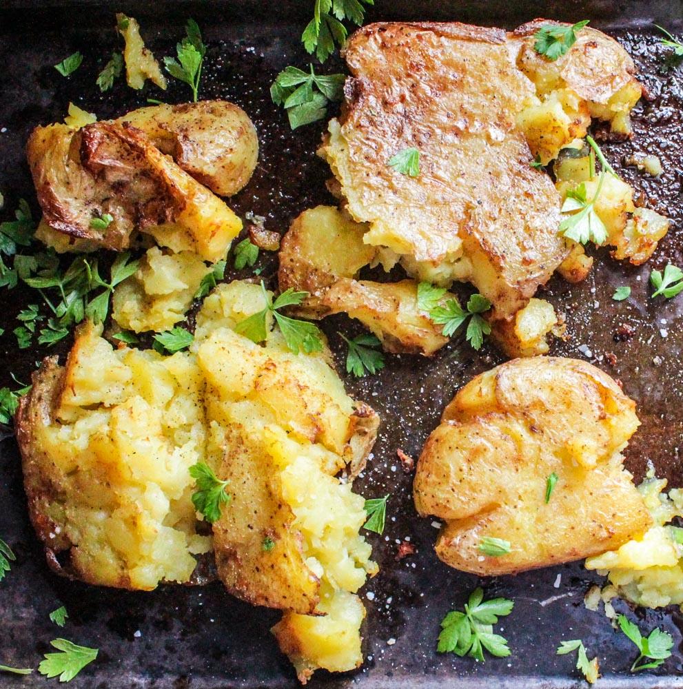 garlic-smashed-potatoes