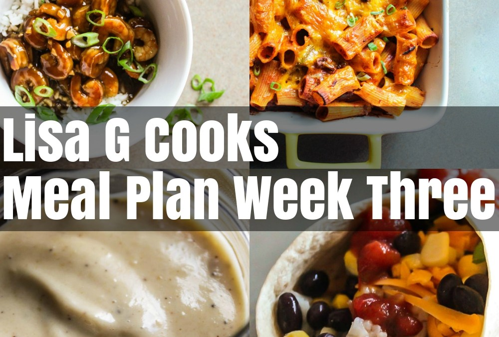 Meal Plan Week Three