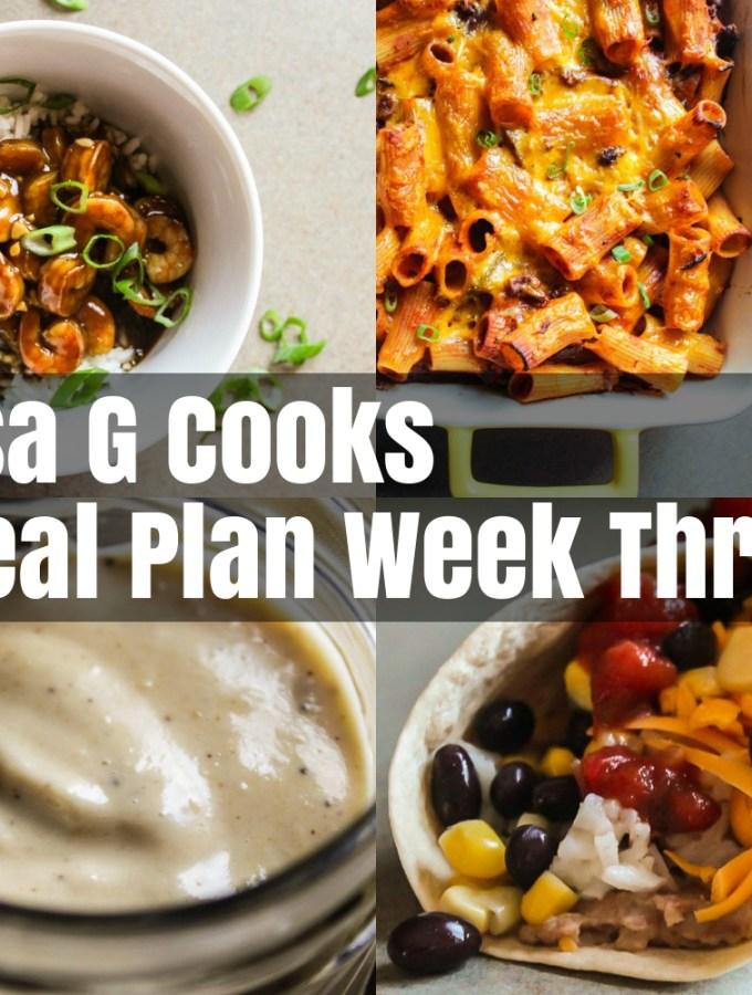 Meal Plan Week Three