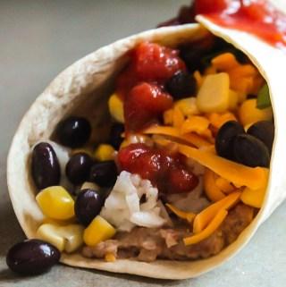 Healthy Spicy Bean Burritos