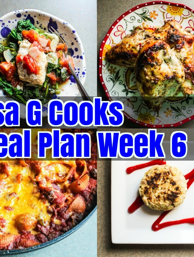 Meal Plan Week 6