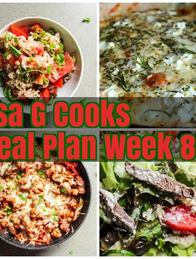 Meal Plan Week 8