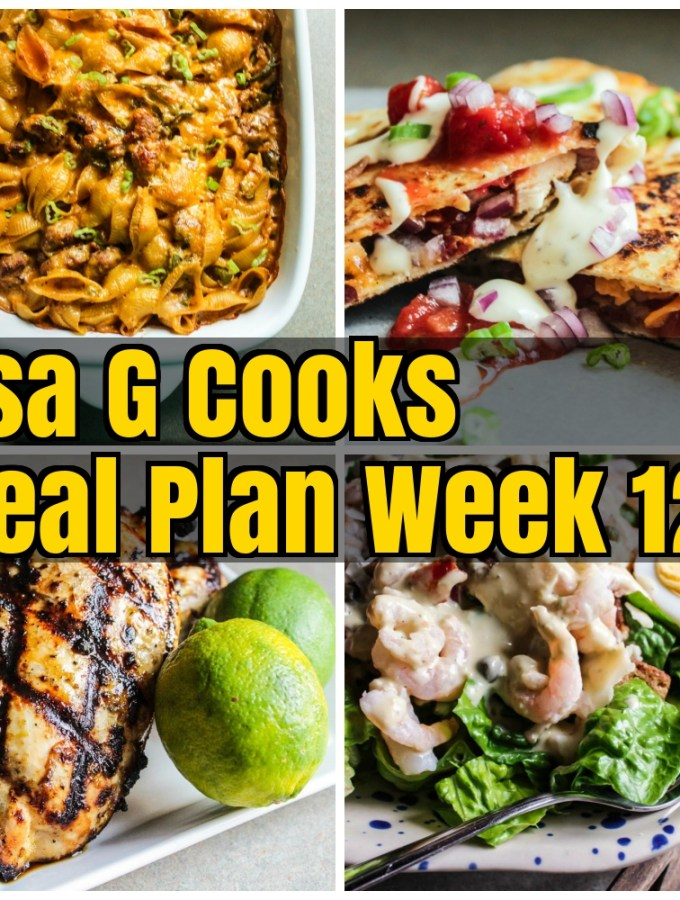 Meal Plan Week 12