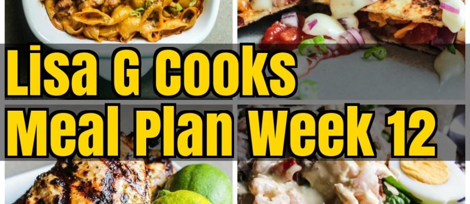 Meal Plan Week 12