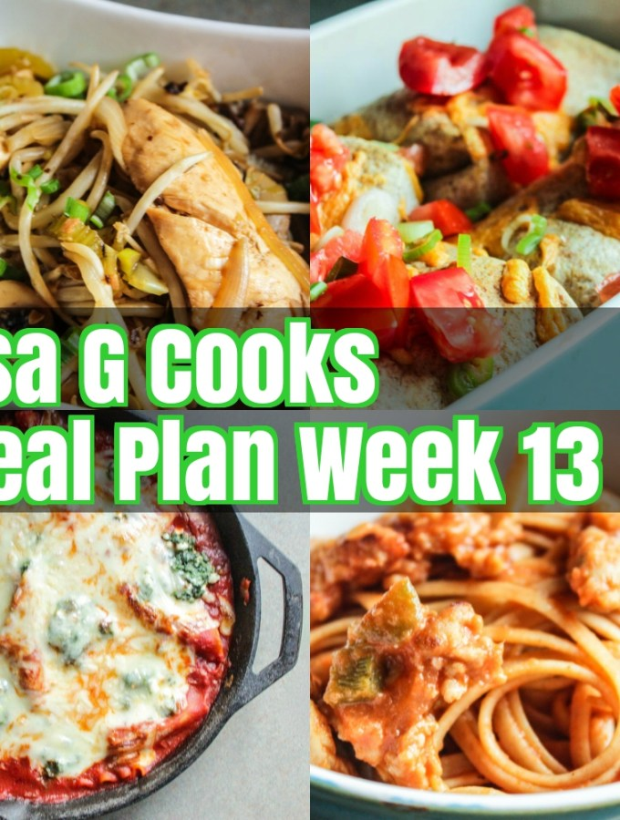 Meal Plan Week 13