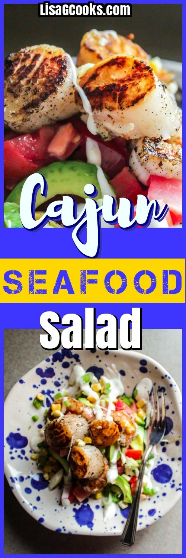 LisaGCooks.com Cajun Seafood Salad