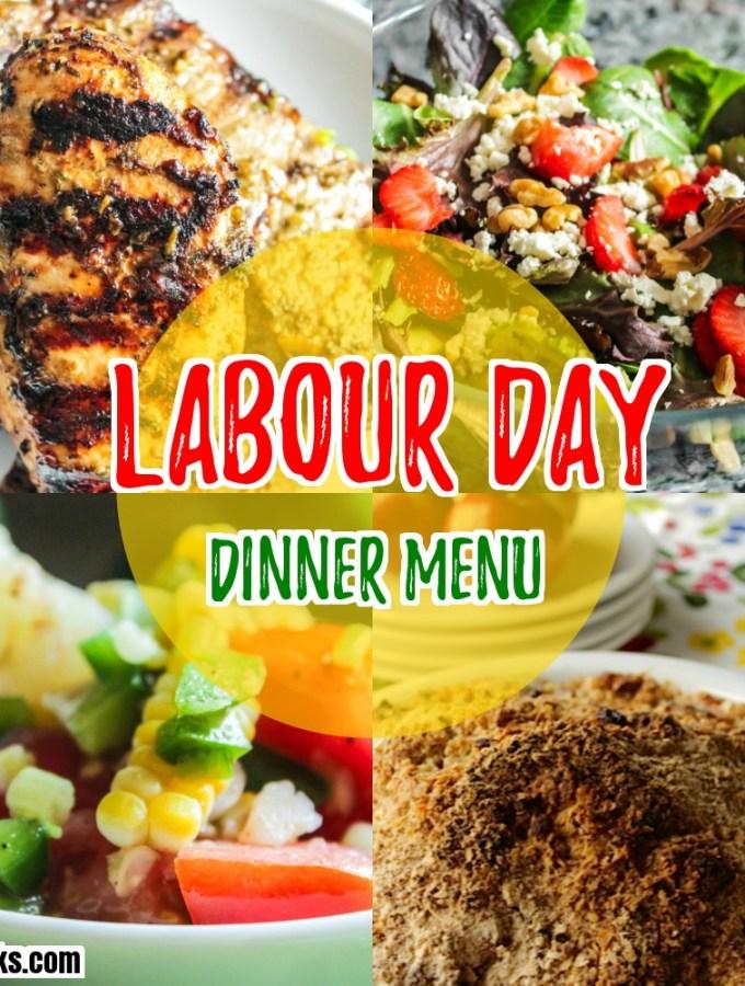 Labour Day Dinner Menu