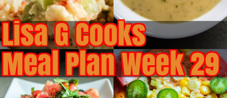 Meal Plan Week 29