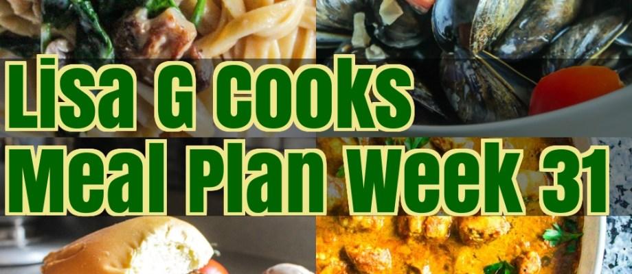 Meal Plan Week 31