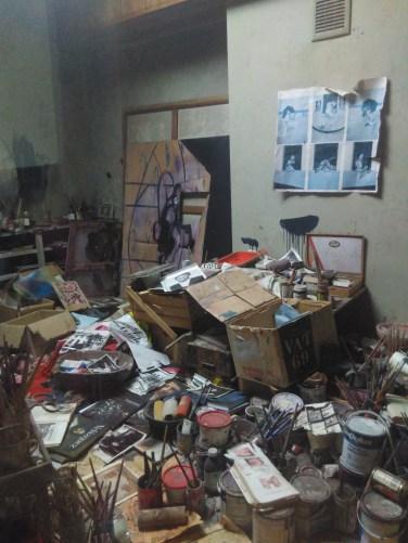 Francis Bacon's studio at the Hugh Lane Gallery