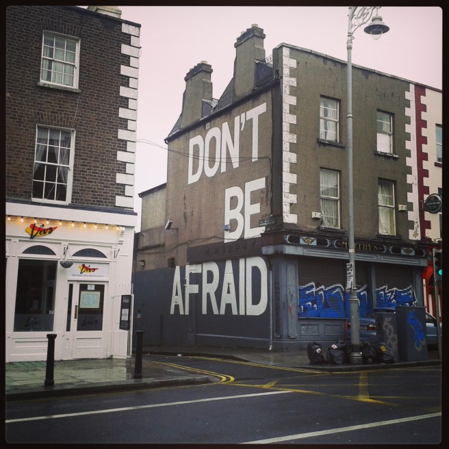 Seamus Heaney quote street art Dublin