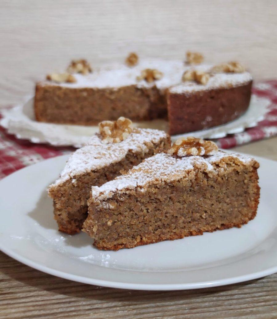 torta di noci senza lievito e farina