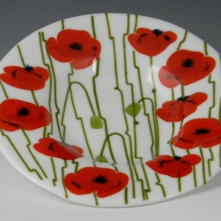 Poppies as seen in Fused Art Design with Lisa Vogt