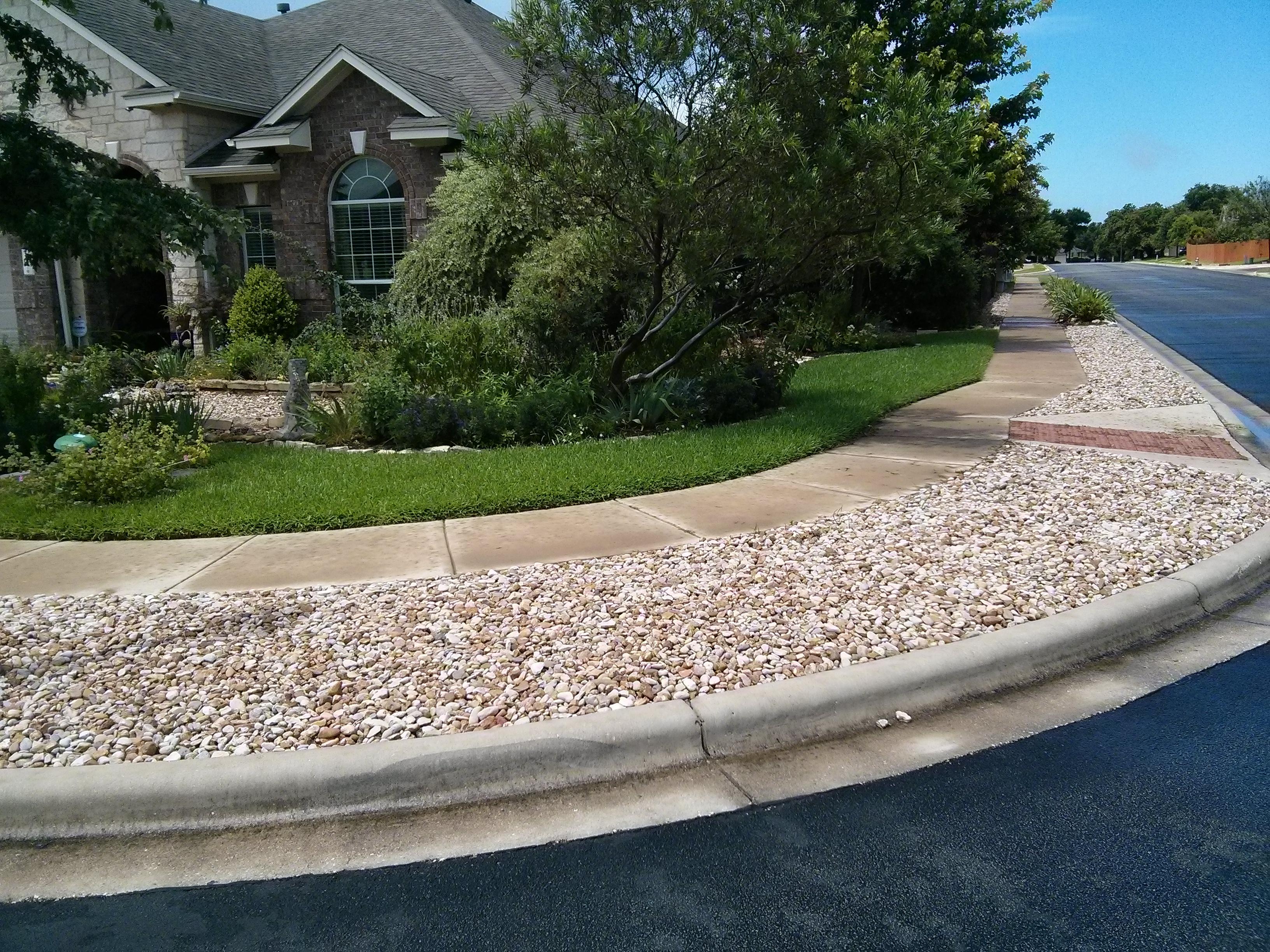 River Rock In The Landscape Means No Water Not No Maintenance Lisa S Landscape Design